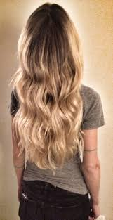 brown and blonde ombre with a line hair cut blond wavy hair ombre balayage highlights beach hair