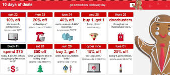 target black friday promo code target 10 days of deals schedule kicks off today mama cheaps