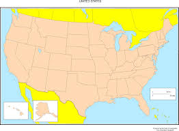 United States Blank Outline Map by United States Blank Map