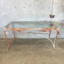 Tempered Glass Patio Table Vintage Iron Patio Table With Tempered Glass Top Urbanamericana