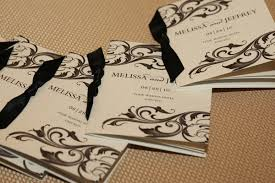 scroll wedding programs timeless black white wedding in chicago illinois inside weddings
