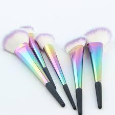 vibe tribe rainbow ombre makeup brush face set jolie beauty