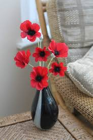 Vase With Red Poppies Red Poppies In Daytona Vase Garden House Flowers