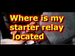 2004 hyundai accent starter where is the starter relay located on a hyundai accent