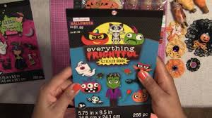 halloween sticker books halloween craft supplies 2016 collective haul dollar tree