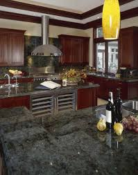 granite countertop kitchen island from stock cabinets backsplash
