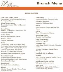 menu for brunch panosh catering kosher catering in buffalo grove il