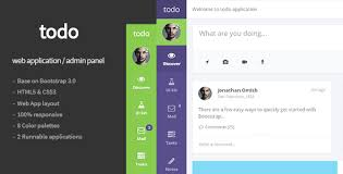 todo web application and admin panel template by flatfull