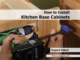 Install Kitchen Base Cabinets How To Replace Kitchen Cabinets