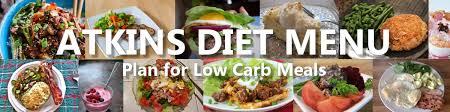 plan for low carb meals atkins diet menu