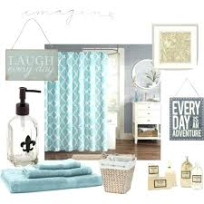 Teal Bathroom Decor Decorations Set Makeup Coral And Turquoise