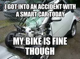 Car Wreck Meme - accident with a smart car funny pictures quotes memes funny