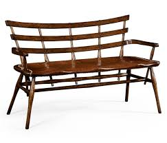 bench with studded leather seat
