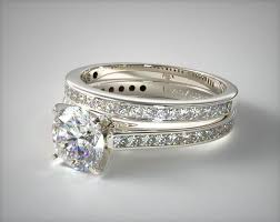 Wedding Ring Set by White Gold Engagement And Wedding Ring Sets Qk Ferizaj Info