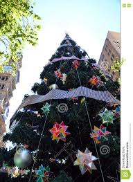 Outdoor Christmas Trees by Tall Outdoor Christmas Tree With Decoration Stock Photo Image