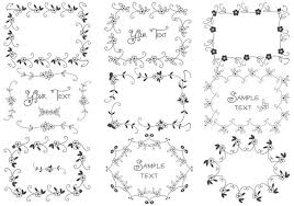 hand drawn floral frame brushes pack free photoshop brushes at