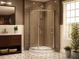 architecture white daltile wall with corner shower stalls and