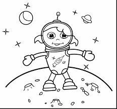 awesome printable rocket coloring pages with astronaut coloring