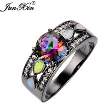 aliexpress buy junxin new arrival black aliexpress buy junxin fashion jewelry women wedding rainbow