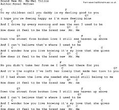 New Lyrics Country Brand New Mr Me Mel Tillis Lyrics And Chords