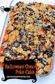 Halloween Chocolate Cake Recipe Halloween Oreo Poke Cake Recipe
