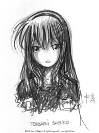 saeko brush pen sketch by fredrin on deviantart