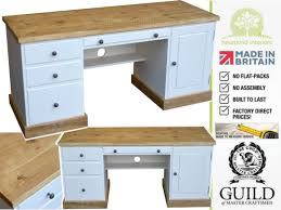 rustic pine writing desk painted twin pedestal rustic writing desk with filing drawer cot dk1