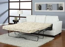 Wooden Frame Sofa Bed Acme 15062 Platinum White Bonded Leather Sofa With Queen Sleeper