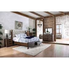 Furniture Of America Bedroom Sets Hutchinson Rustic Cal King Bed With Drawers
