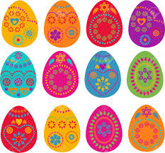 a set of colored easter eggs design stock photo picture and