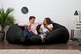 oversized bean bag chair seat xl black suede lounger lovesac