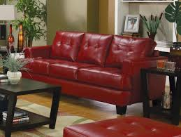 Leather Tufted Sofa by Furniture Cozy Red Leather Tufted Sofa By Ashley Furniture Austin