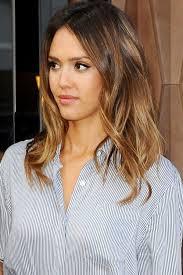 midi haircut medium length hair jessica alba