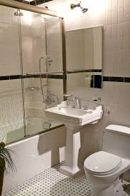 Bathroom And Shower Ideas by Modern Bathroom Design With White Square Pedestal Sink And Shower