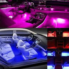 Colored Interior Car Lights Airgoo Rainbow Car Led Light Strip Music Activated Interior Car