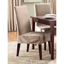 Kitchen  Dining Chair Covers Youll Love Wayfair - Short dining room chair covers