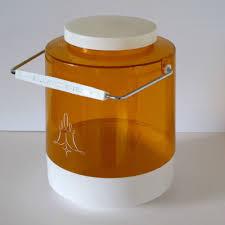 orange kitchen canisters nally vintage 1960s original large biscuit barrel in orange and