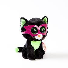 jinxy cat beanie boo glasses plush
