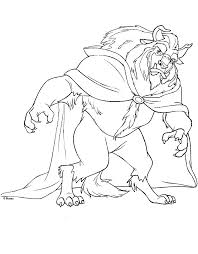 beauty beast coloring pages coloring