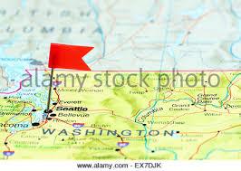 seattle map usa geography travel usa washington seattle downtown interstate