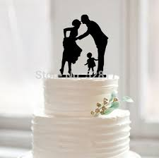 family wedding cake toppers wedding cake topper silhouette groom with