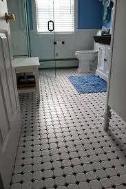 bathroom white tile floor ideas white chrome curved center set