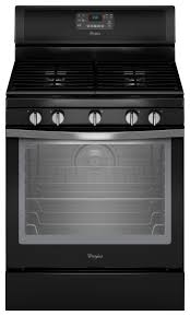 Whirlpool Black Ice Whirlpool 5 8 Cu Ft Self Cleaning Freestanding Gas Convection
