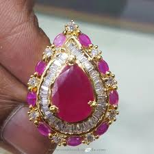 ruby rings price images 1 gm gold ruby ring with price south india jewels jpg