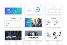 clean powerpoint template presentation templates on slideforest