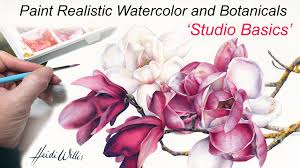 online tutorial paint realistic watercolor and botanicals