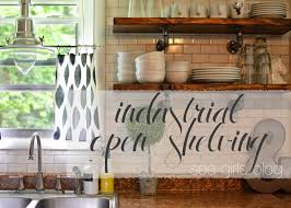 see girls blog industrial open shelving