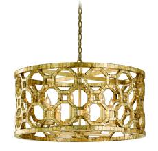 interior round gold iron capiz shell chandelier for your house