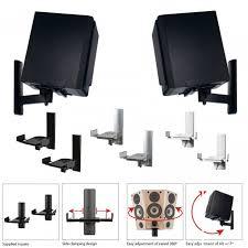 Speaker Wall Mounts B Tech Bt77 Side Clamping Speaker Wall Brackets In Black Or White