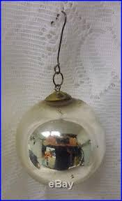antique vintage kugel german mercury glass tree silver
